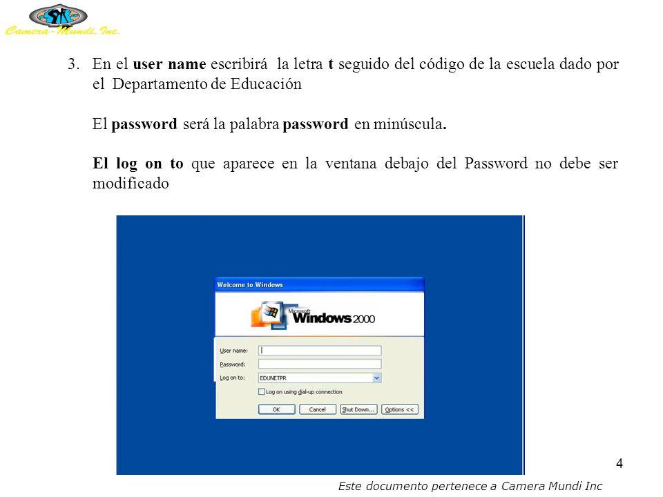 3 PASOS A SEGUIR EN LA CREACIÓN DE UNA CUENTA 1.Una vez prendido el servidor, se debe esperar a que en el servidor aparezca la siguiente pantalla.