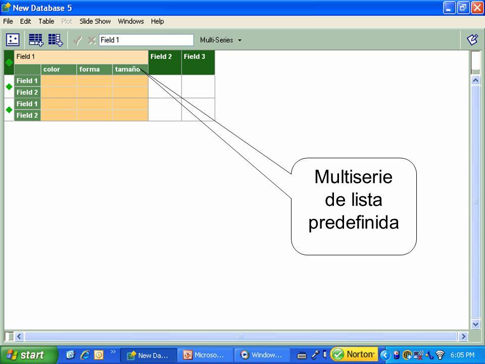 Multiserie de lista predefinida