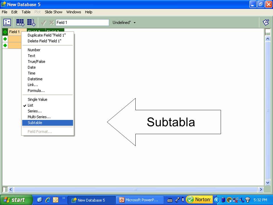 Subtabla