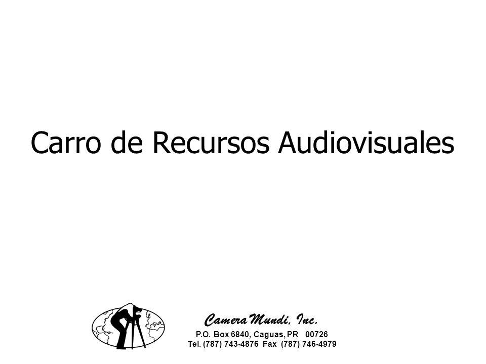 Componentes: Unidad móvil o carro audiovisual Televisor de 27 VHS/DVD Combo Laptop Combo de impresora/scanner/fax Proyector de data y vídeo Pantalla de Trípode Bocinas con subwoofer Un convertidor Quemador CD/DVD externo Track ball mouse Teclado (teclas grandes)