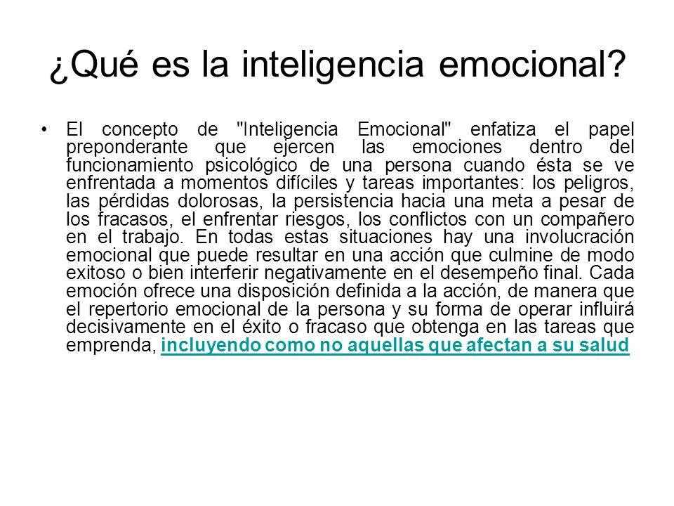 Inteligencia emocional AUTOCONCIENCIA HABILIDADES SOCIALES EMPATÍA MOTIVACIÓN AUTOREGULACIÓN