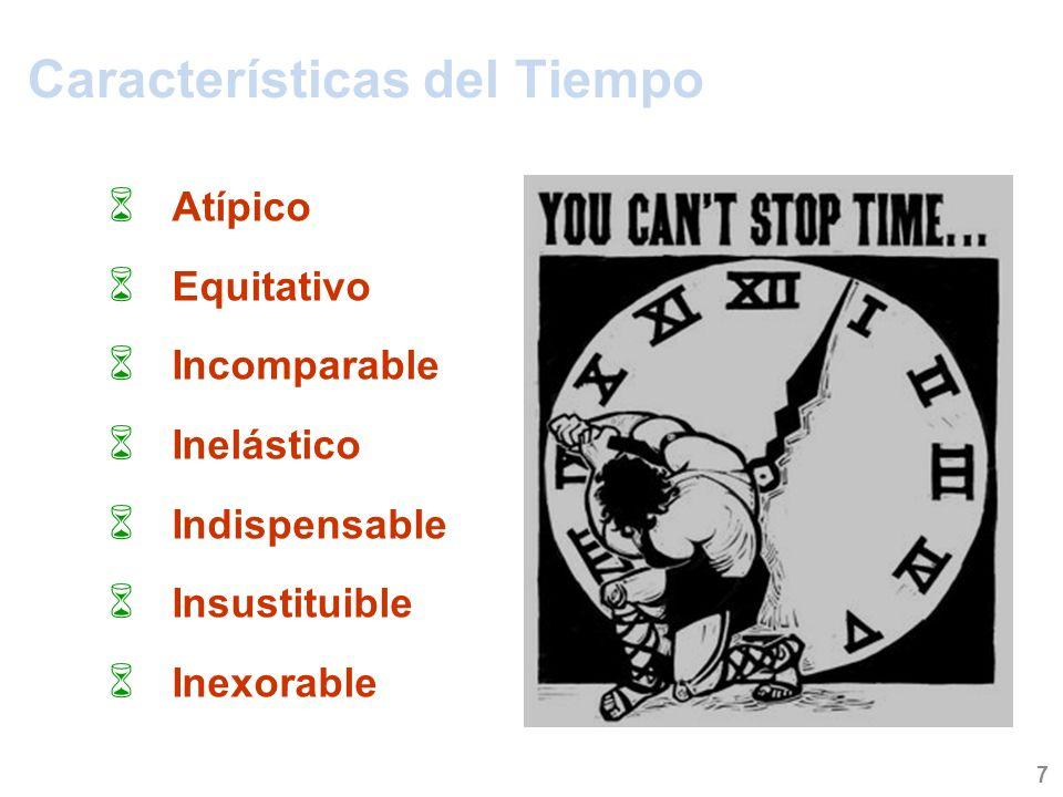 Generalidades acerca del tiempo Decir que el tiempo es oro es una afirmación poco precisa, ya que el tiempo es la propia vida.