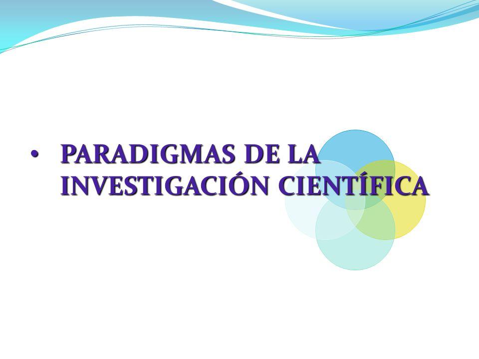 paradigmas de la investigacion cientifica pdf