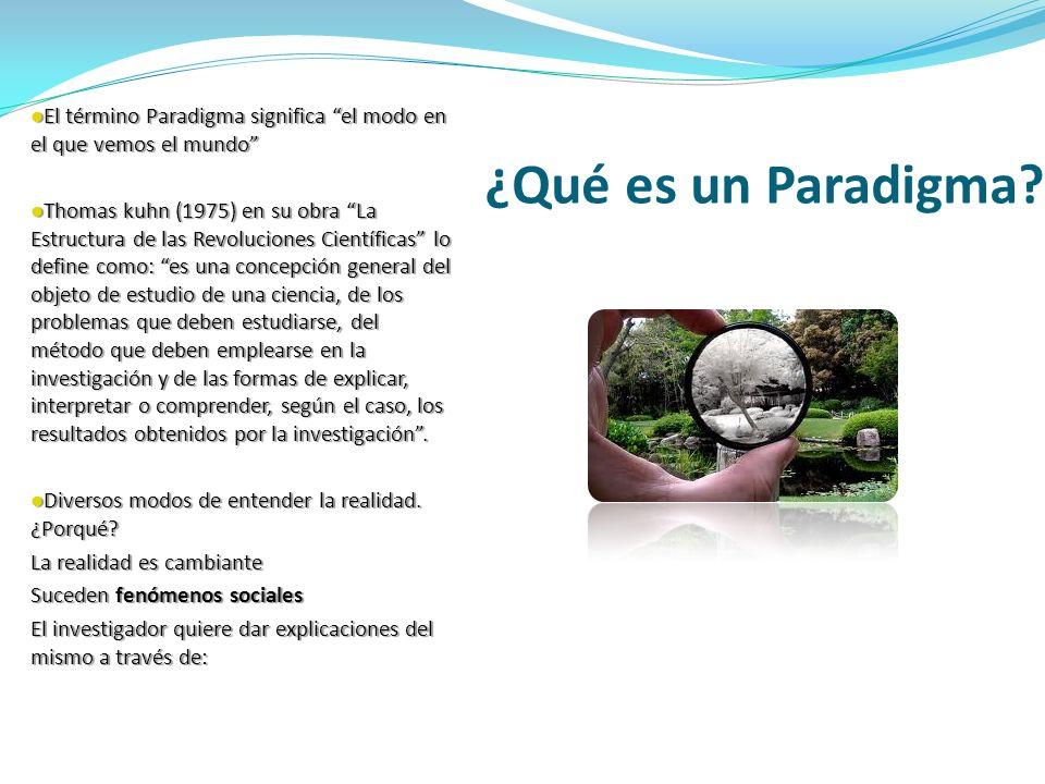 ¿Qué es un Paradigma? El término Paradigma significa el modo en el que vemos el mundo El término Paradigma significa el modo en el que vemos el mundo