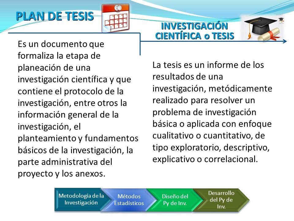 Es un documento que formaliza la etapa de planeación de una investigación científica y que contiene el protocolo de la investigación, entre otros la i