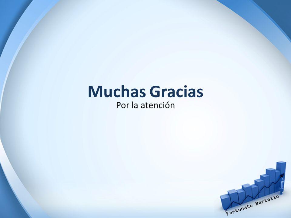 Muchas Gracias Por la atención