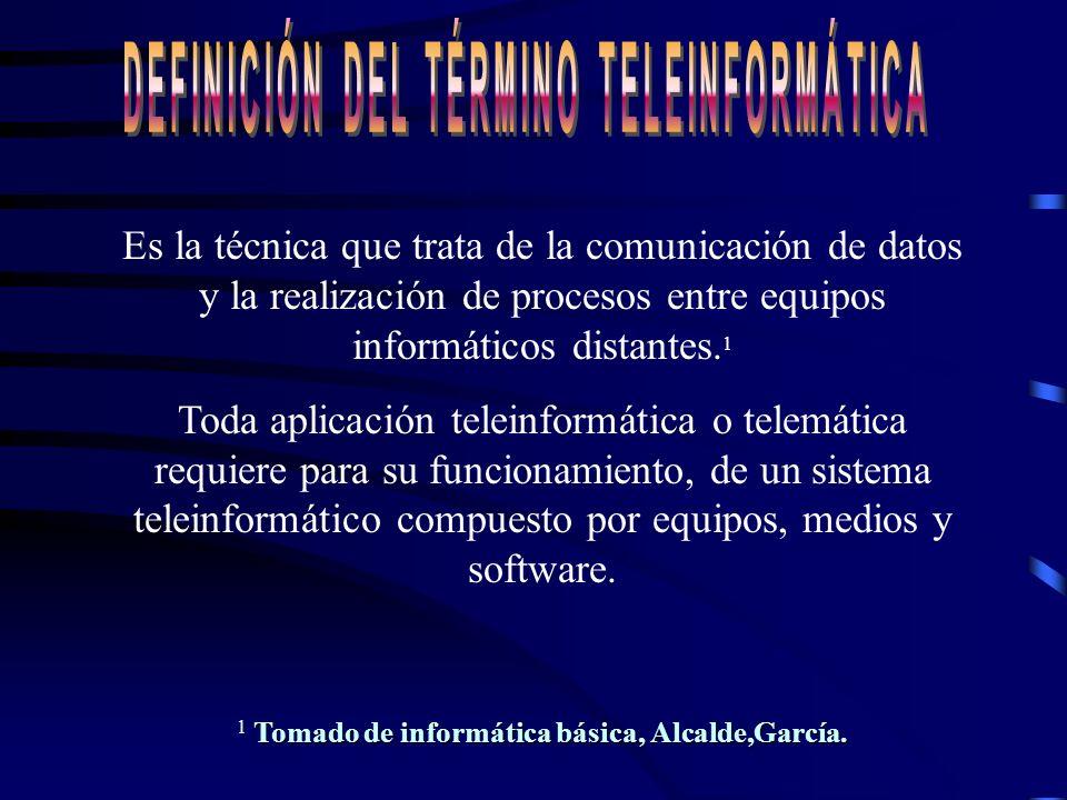 Definición del término INFORMÁTICA Según Alcalde, García: Es la ciencia que estudia el tratamiento automático y racional de la información Se creó en