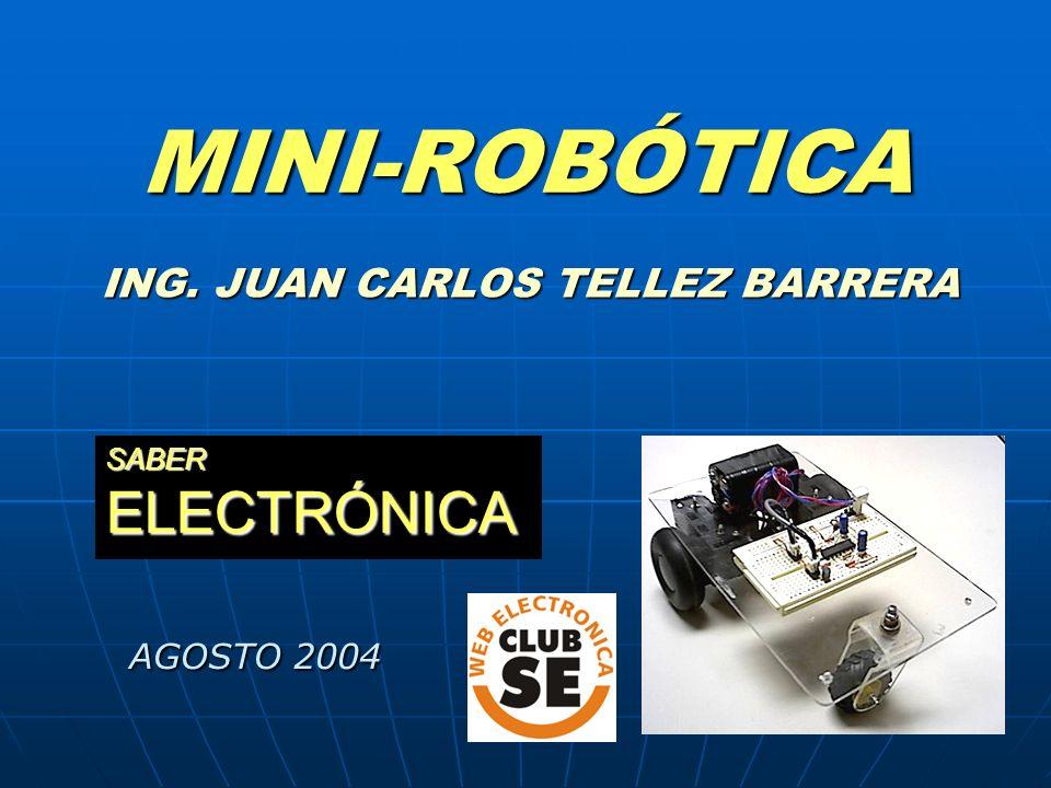 MINI-ROBÓTICA ING. JUAN CARLOS TELLEZ BARRERA SABER ELECTRÓNICA AGOSTO 2004 AGOSTO 2004