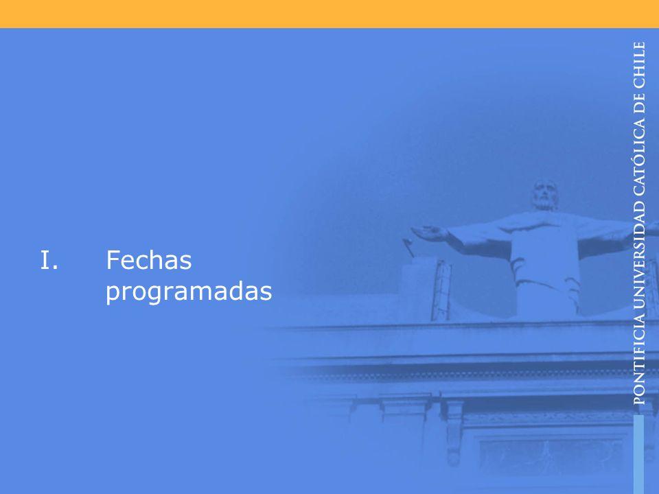 I.Fechas programadas