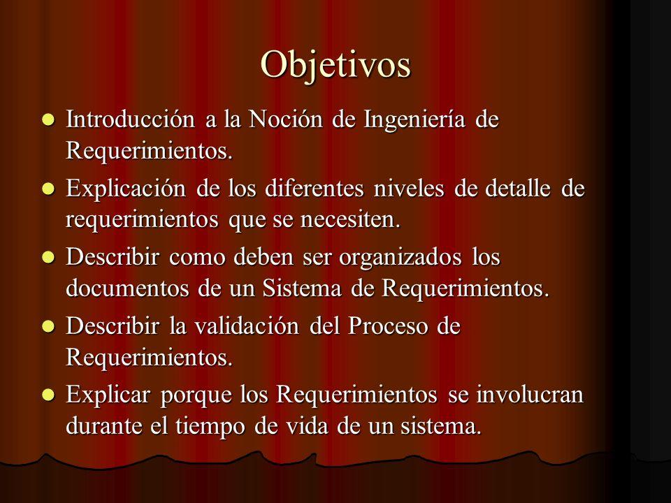 Documento de Requerimientos Es la declaración oficial de lo que es requerido para que el sistema sea desarrollado.
