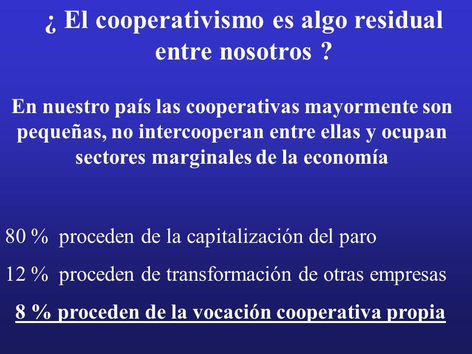 ¿ El cooperativismo es algo residual entre nosotros .