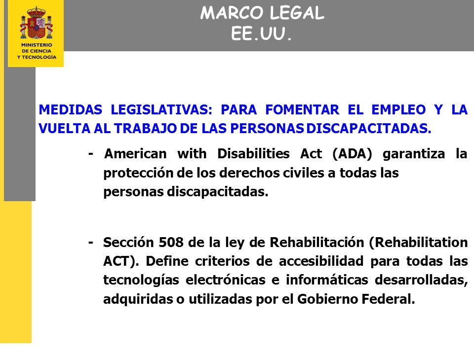 MARCO LEGAL EE.UU.