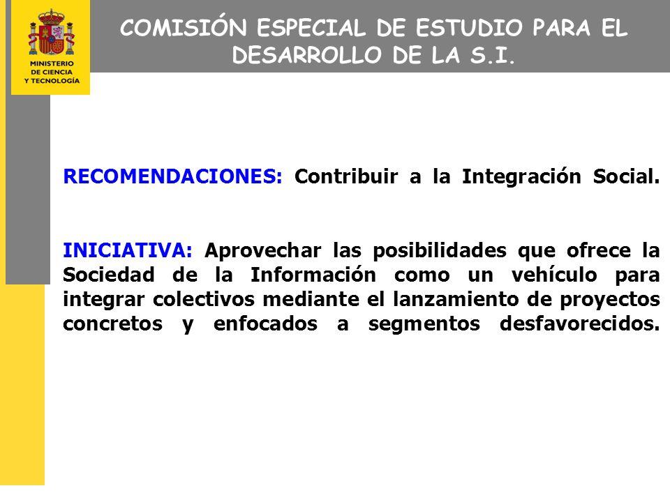 COMISIÓN ESPECIAL DE ESTUDIO PARA EL DESARROLLO DE LA S.I.