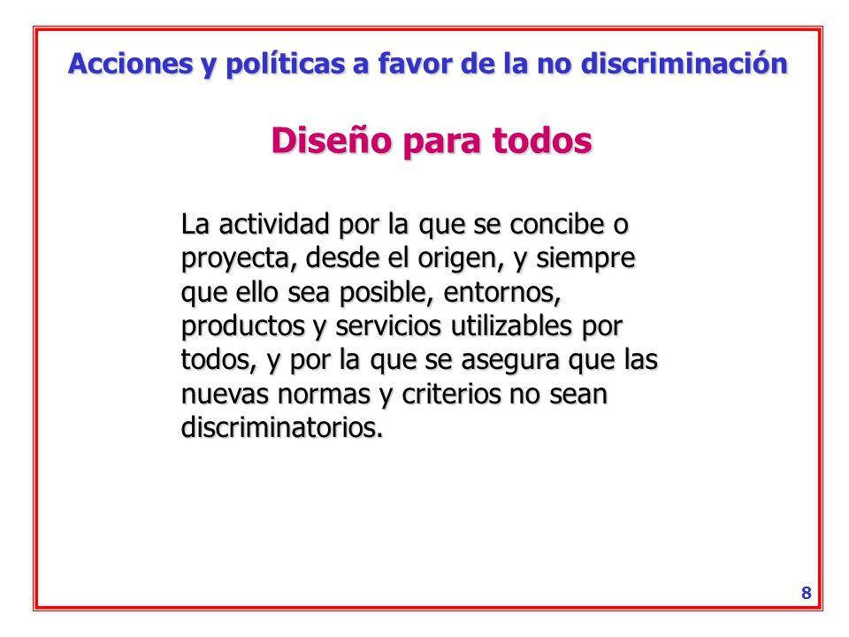 Acciones y políticas a favor de la no discriminación 7 Conducta de acoso Toda conducta no deseada relacionada con la discapacidad de una persona, que