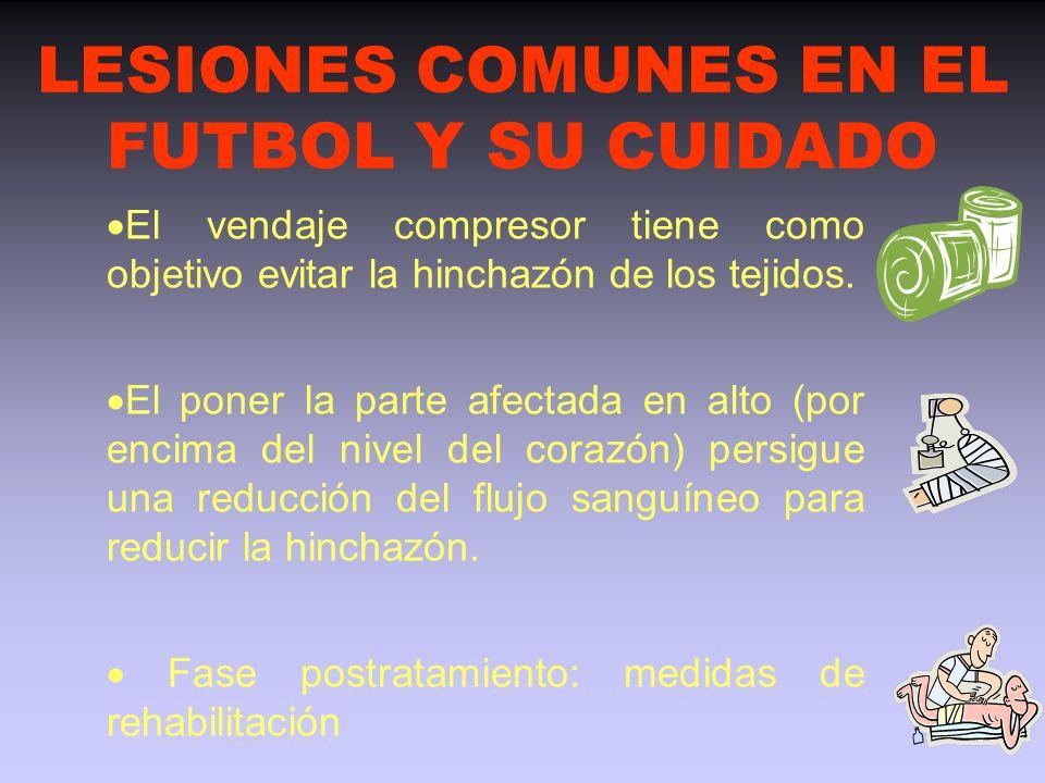 LESIONES COMUNES EN EL FUTBOL Y SU CUIDADO TRATAMIENTO CON CALOR : - se inicia en las lesiones deportivas agudas después del cuarto día, - provoca una