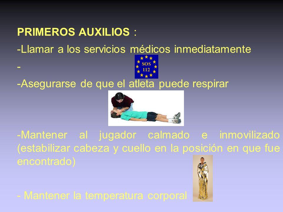LESIONES DE CABEZA Y CUELLO Estas lesiones pueden ser las más peligrosas de todas las lesiones. SINTOMAS : - Dolor de cabeza, mareo - Perdida de conoc