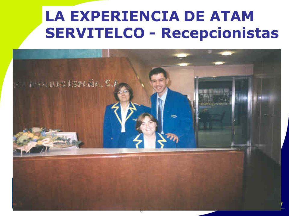 9 LA EXPERIENCIA DE ATAM SERVITELCO - Recepcionistas
