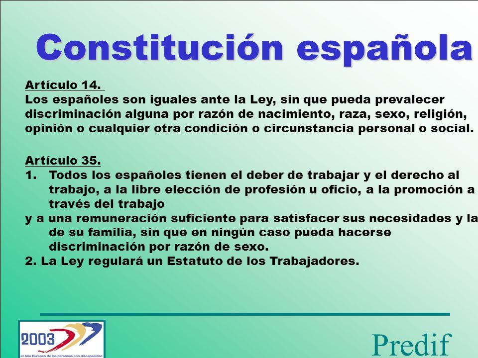 Predif Constitución española Artículo 49.
