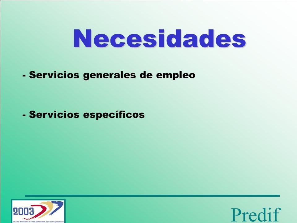 Predif Herramientas - Mercado de empleo virtual - Oficina de intervención - Programas especiales de empleo