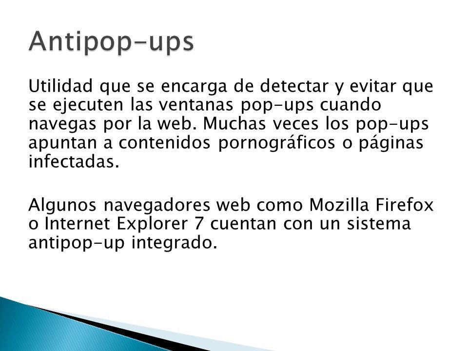 Utilidad que se encarga de detectar y evitar que se ejecuten las ventanas pop-ups cuando navegas por la web.