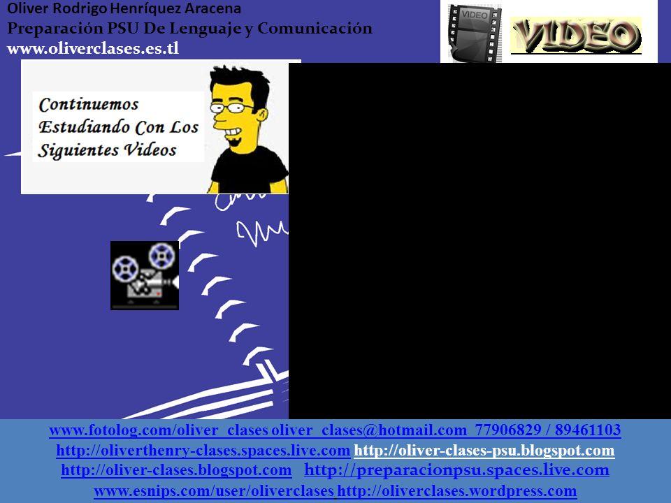 Oliver Rodrigo Henríquez Aracena Preparación PSU De Lenguaje y Comunicación www.oliverclases.es.tl Para ir terminando…. Recordemos dos significados mu