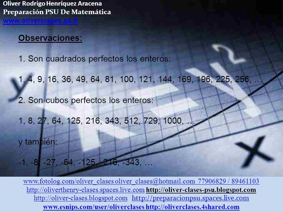 Oliver Rodrigo Henríquez Aracena Preparación PSU De Matemática www.oliverclases.es.tl CÁLCULO DEL m.c.m.