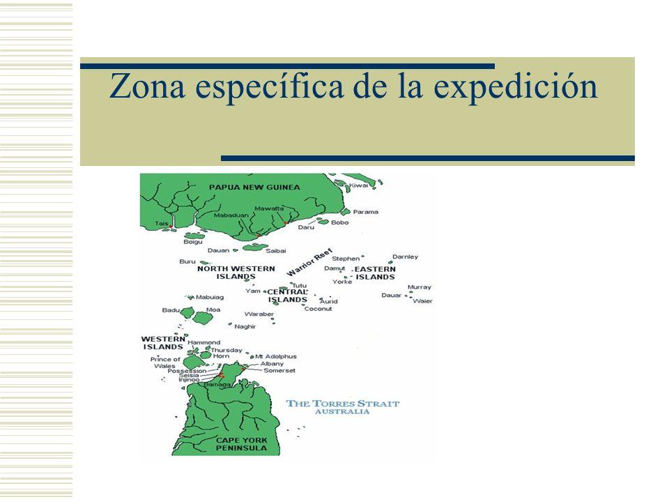 Zona específica de la expedición