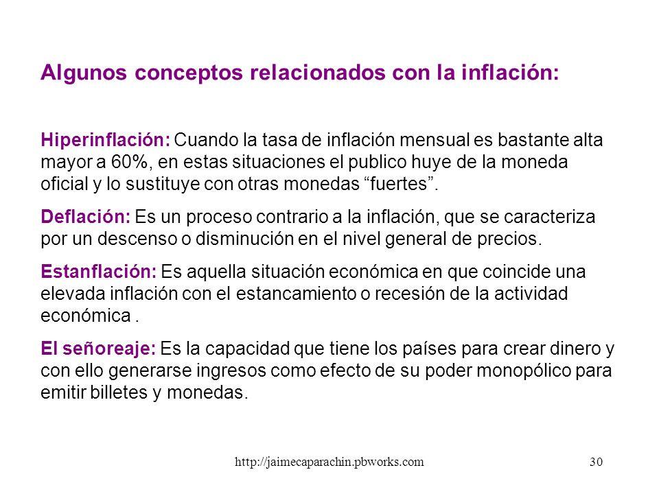 http://jaimecaparachin.pbworks.com29 c) ENFOQUE ESTRUCTURALISTA DE LA INFLACIÓN. En las décadas del 50 y 60, la Comisión Económica Para América Latina