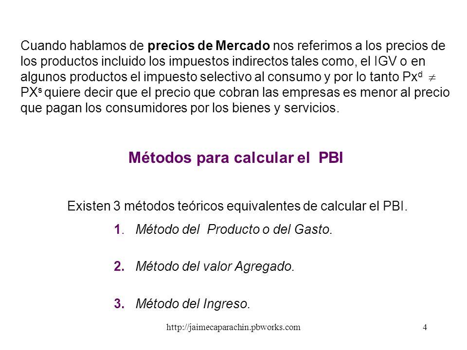 http://jaimecaparachin.pbworks.com3 Para calcular el PBI se debe tener en cuenta la sutileza de ciertos conceptos: Cuando se habla de producción corri