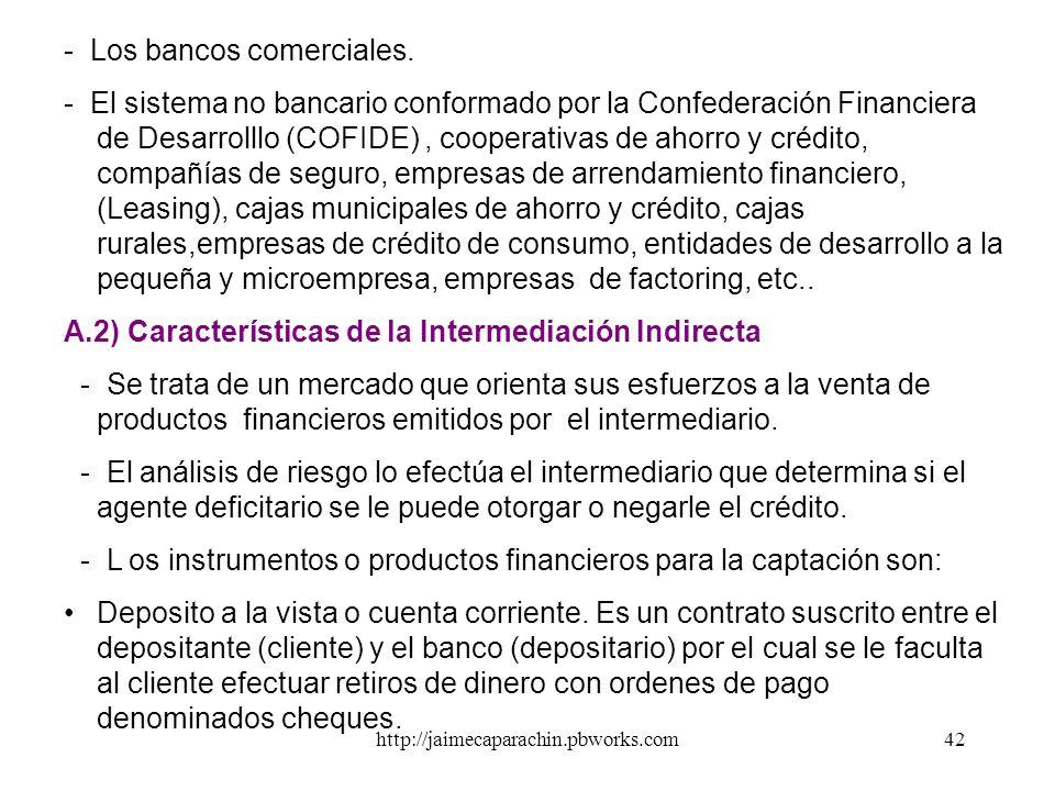 http://jaimecaparachin.pbworks.com41 El banco paga por los recursos captados (depósitos) la tasa de interés pasiva (r p ), y cobra por los recursos qu