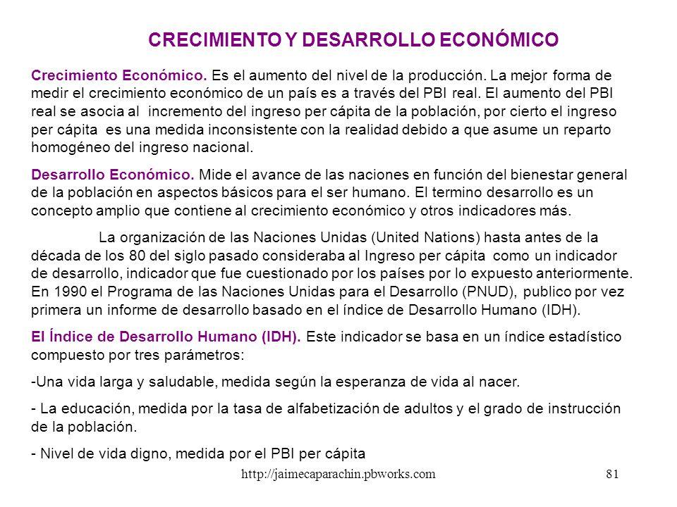 http://jaimecaparachin.pbworks.com80 SISTEMA DE TIPO DE CAMBIO Efectos VARIACIÓN DEL TIPO DE CAMBIO Fijo - GobiernoFlexible-Mercado Incremento del tip