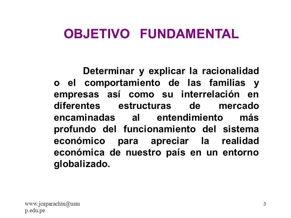 www.jcaparachin@usmp.edu.pe2 EVALUACIÓN CICLO 2 011 - II : Intervenciones en Clase Controles de Lectura (4) Practica Calificada Trabajo de Investigación 1.