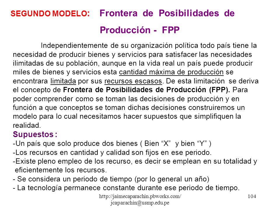 http://jaimecaparachin.pbworks.com/ jcaparachin@usmp.edu.pe 103 2. FACTORES DE PRODUCCIÓN. Son los recursos que se usan para producir bienes y servici