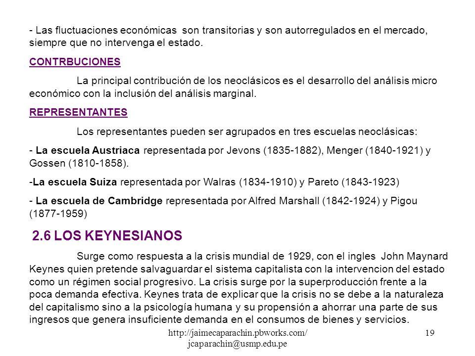 http://jaimecaparachin.pbworks.com/ jcaparachin@usmp.edu.pe 18 REPRESENTANTES -Carlos Marx (1818- 1883) Sociólogo y economista alemán su obra fundamen