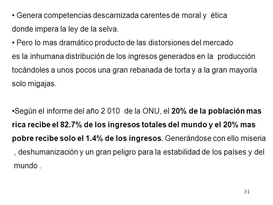30 La asignación de recursos escasos Promueve el bienestar social incentivando la producción de bienes y servicios al menor costo posible para asi aum