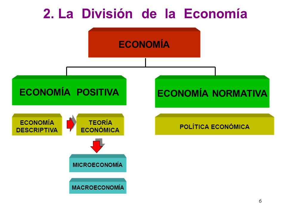 5 1. Concepto de Economía La economía dentro de la clasificación general de la ciencia es una ciencia fáctica y a su vez es una ciencia social porque