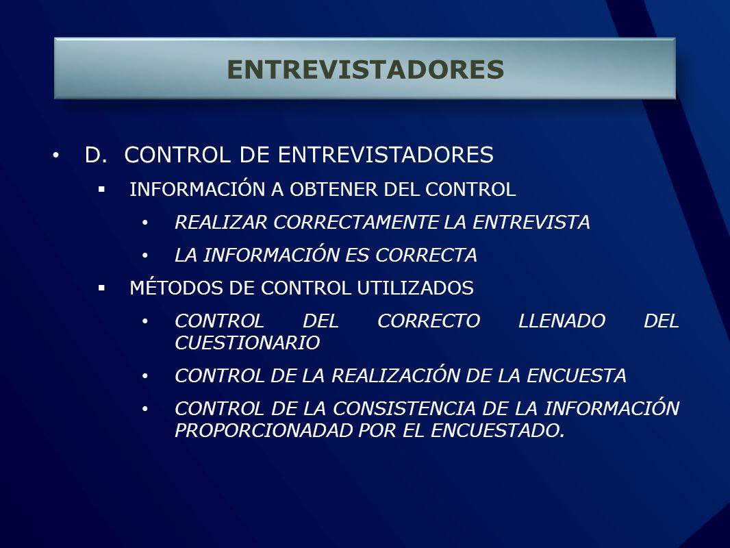 ENTREVISTADORES D.