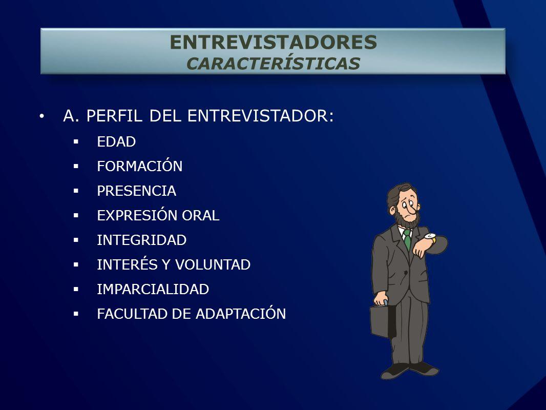 ENTREVISTADORES CARACTERÍSTICAS A.