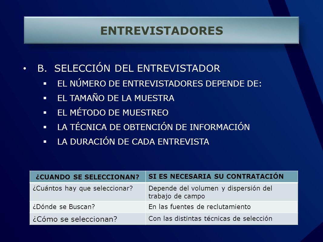 ENTREVISTADORES B.
