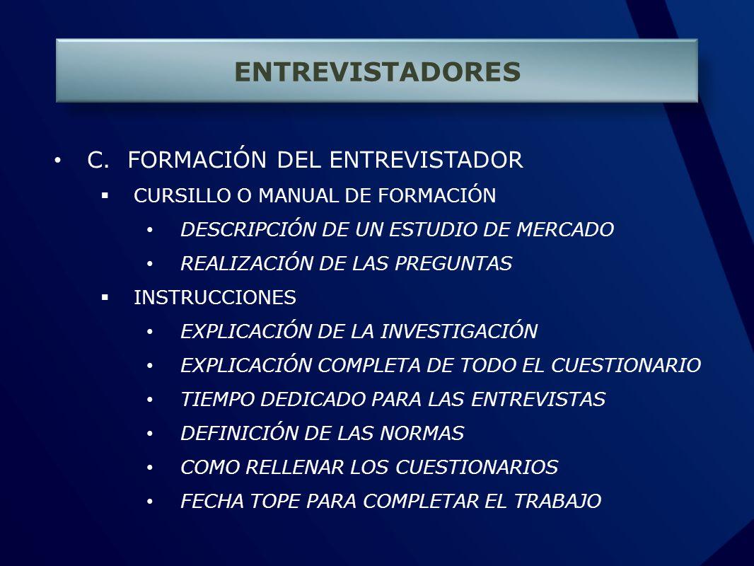 ENTREVISTADORES C.