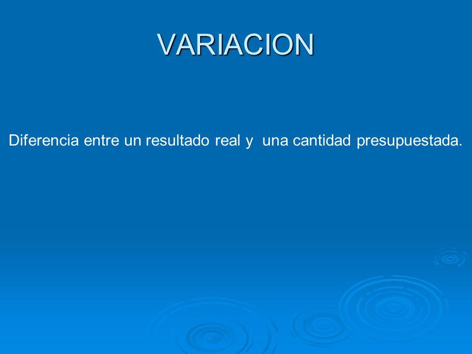 ANALISIS DE VARIACIONES Var.Presup. Estático Var.