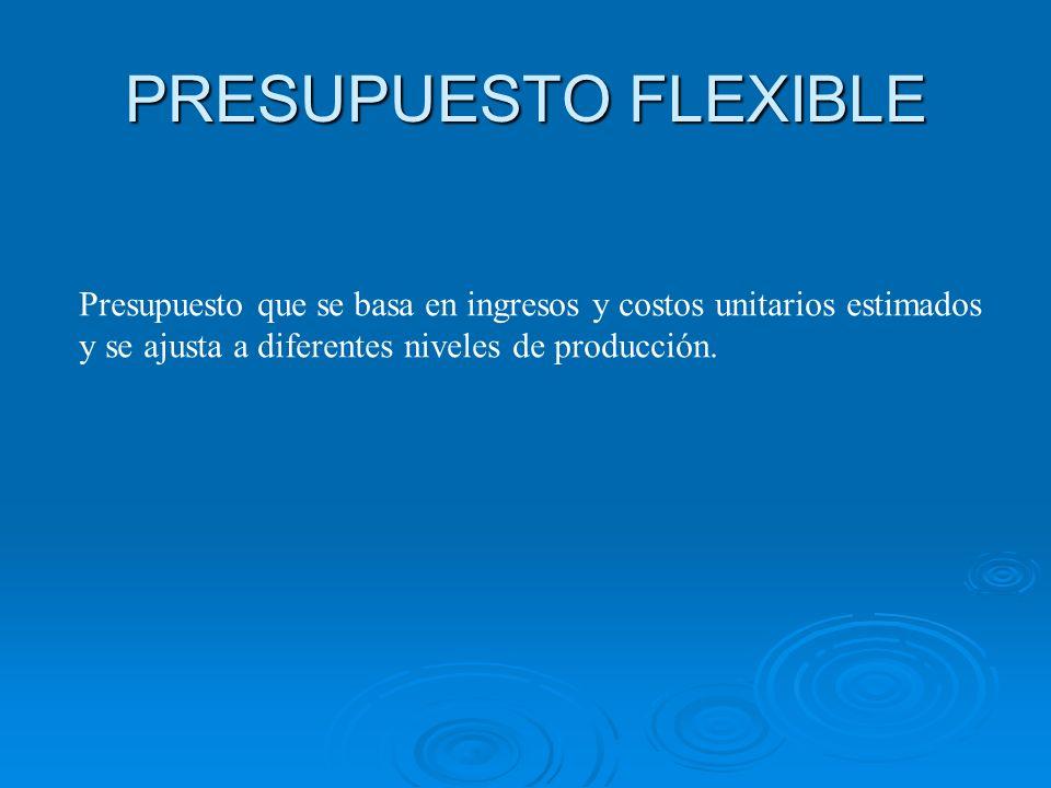 DESARROLLO DE UN PRESUPUESTO FLEXIBLE Paso 2: Determinar el precio de venta presupuestado, los costos variables presupuestados por unidad y los costos fijos presupuestados.