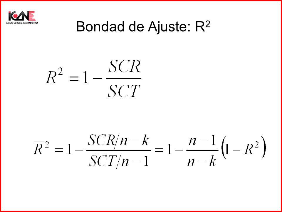 Sumas de cuadrados SCT: es la Suma de Cuadrados Totales y representa una medida de la variación de la variable dependiente. SCE: es la Suma de Cuadrad