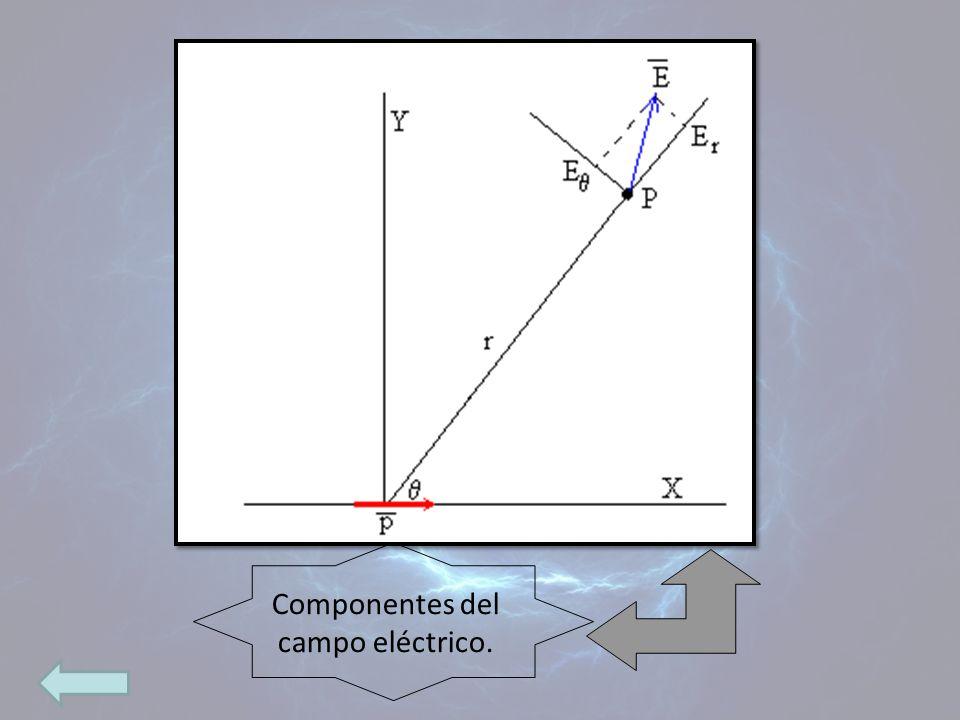 Componentes del campo eléctrico.