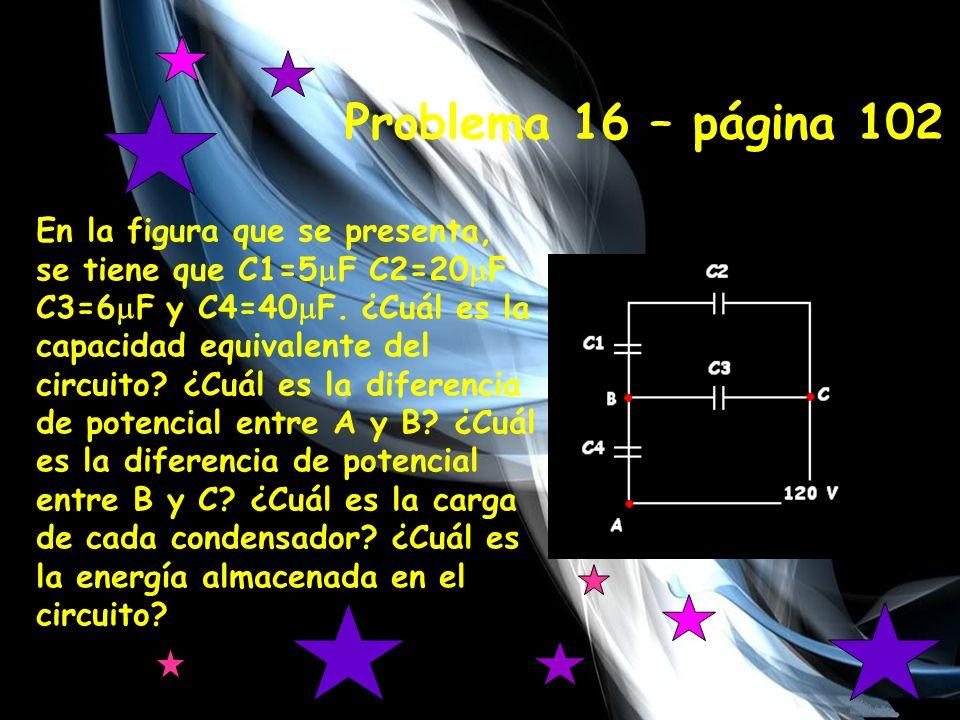-5 En la figura que se presenta, se tiene que C1=5 F C2=20 F C3=6 F y C4=40 F.