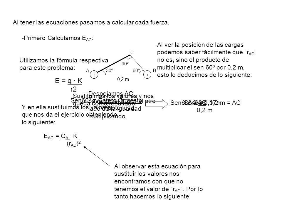 Al tener las ecuaciones pasamos a calcular cada fuerza.