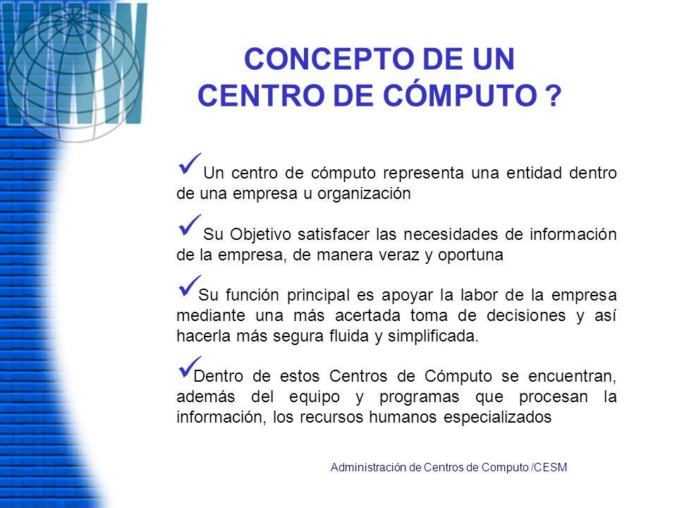 CLASIFICACION DE LAS AREAS DE UN CENTRO DE COMPUTO AREA DIRECTIVA AREA TÉCNICA AREA OPERATIVA ÁREA ADMINISTRATIVA.