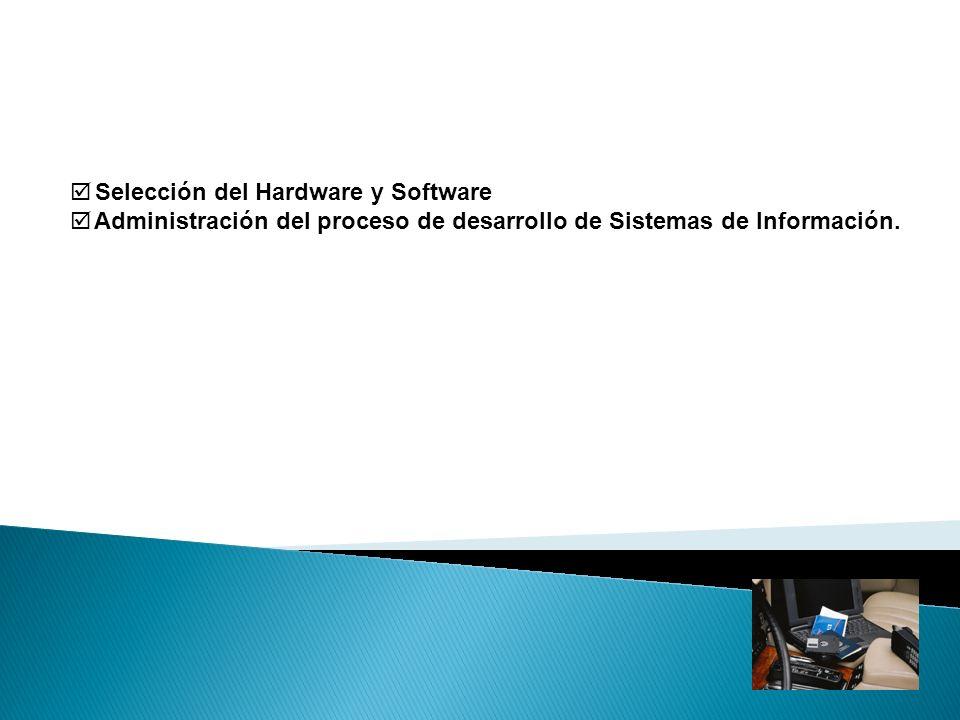 Selección del Hardware y Software Determinación de las necesidades de hardware y software.