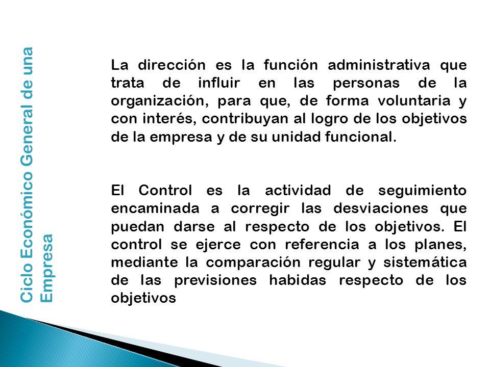 La dirección es la función administrativa que trata de influir en las personas de la organización, para que, de forma voluntaria y con interés, contri