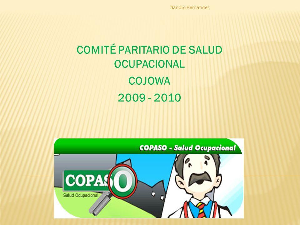 COMITÉ PARITARIO DE SALUD OCUPACIONAL COJOWA 2009 - 2010 Sandro Hernández